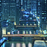 Chicago Bridges Print by Steve Gadomski