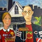 Chicago Gothic Print by Richard  Hubal