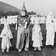 Children In Ku Klux Klan Costumes Pose Print by Everett