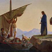Christ Calling The Apostles James And John Print by Edward Armitage