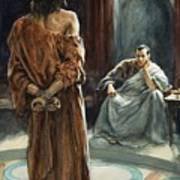 Christ In Front Of Pontius Pilate Print by Henry Coller