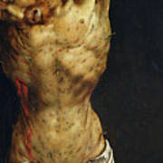 Christ On The Cross Print by Matthias Grunewald