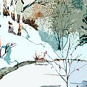 Christmas Crisp Print by Mindy Newman