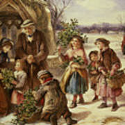 Christmas Morning Print by Thomas Falcon Marshall