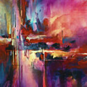 'city Of Fire' Print by Michael Lang