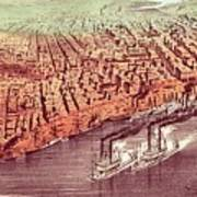 City Of New Orleans Print by Currier and Ives
