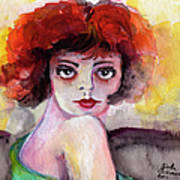 Clara Bow Vintage Movie Stars The It Girl Flappers Print by Ginette Callaway