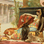 Cleopatra Testing Poisons On Those Condemned To Death Print by Alexandre Cabanel