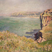 Cliff At Varengeville Print by Claude Monet