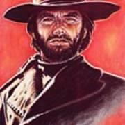 Clint Eastwood Print by Anastasis  Anastasi
