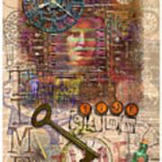 Clockworks Print by Ernestine Grindal