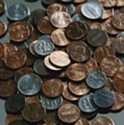 Close View Of United States Coins Print by Vlad Kharitonov