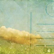 Cloud And Sky On Postcard Print by Setsiri Silapasuwanchai