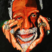 Cloud Eleven - Bill Russell Print by Saheed Fawehinmi