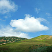 Cloud Over Hills In Spring Print by Kathy Yates