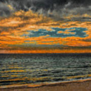 Cloudy Sunrise Print by Dave Bosse