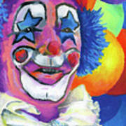 Clown With Balloons Print by Stephen Anderson