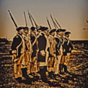 Colonial Soldiers On Parade Print by Bill Cannon