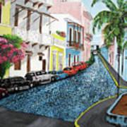 Colorful Old San Juan Print by Luis F Rodriguez