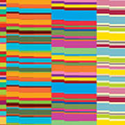 Colorful Stripes Print by Ramneek Narang