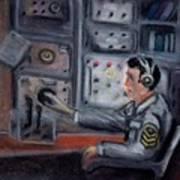 Communications Operator Print by Kostas Koutsoukanidis