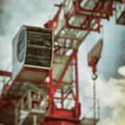 Construction Crane Print by Wim Lanclus