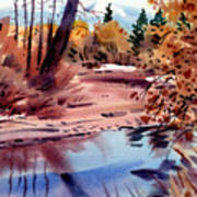 Cottonwoods In October Print by Donald Maier