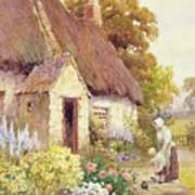 Country Cottage Print by Joshua Fisher
