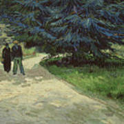 Couple In The Park Print by Vincent Van Gogh