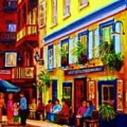 Courtyard Cafes Print by Carole Spandau