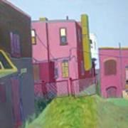 Courtyard View Print by Debra Robinson