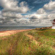 Covehead Lighthouse Print by Elisabeth Van Eyken
