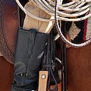 Cowboy Tack Print by Joan Carroll