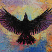 Crow Print by Michael Creese