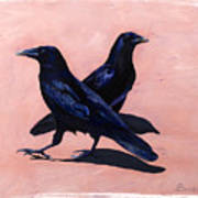 Crows Print by Sandi Baker