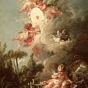 Cupids Target Print by Francois Boucher