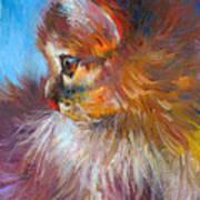 Curious Tubby Kitten Painting Print by Svetlana Novikova