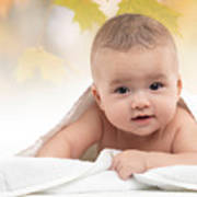 Cute Four Month Old Baby Boy Print by Oleksiy Maksymenko