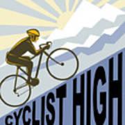Cyclist Racing Bike Print by Aloysius Patrimonio