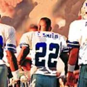 Dallas Cowboys Triplets Print by Paul Van Scott