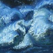 Dance Of The Stormy Sea Print by Tanna Lee M Wells