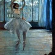 Dancer In Front Of A Window Print by Edgar Degas