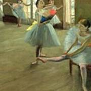 Dancers In The Classroom Print by Edgar Degas