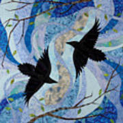 Dancing With The Chinook Print by Linda Beach