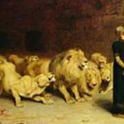 Daniel In The Lions Den Print by Briton Riviere