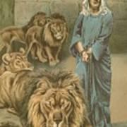 Daniel In The Lions Den Print by John Lawson