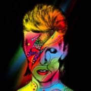 David Bowie Print by Mark Ashkenazi