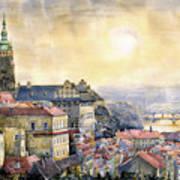 Dawn Of Prague Print by Yuriy  Shevchuk