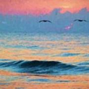 Dawn Patrol Print by JC Findley