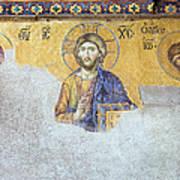Deesis Mosaic Of Jesus Christ Print by Artur Bogacki
